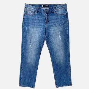 Kut Kloth Catherine Distressed Straight Jeans 12